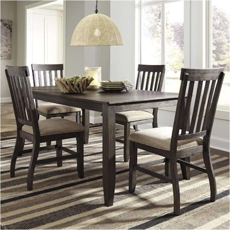 D485 25 Ashley Furniture Dresbar Grayish Brown Dining Room Dinette Table