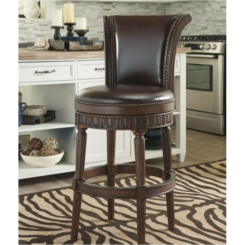 Ashley Furniture Closeout: D553-230 Ashley Furniture Tall Upholstered Swivel Barstool