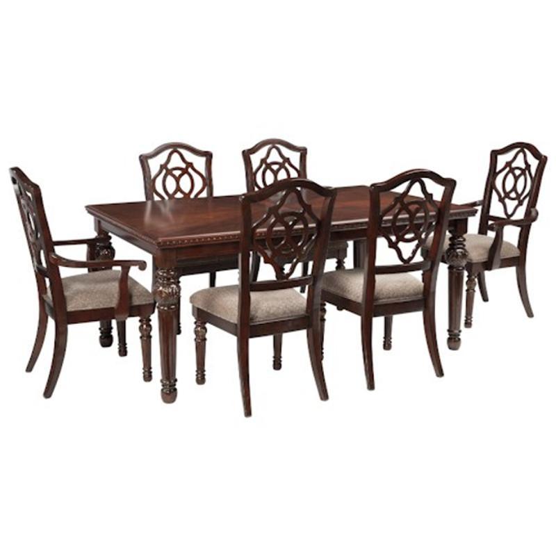 D626 35 ashley furniture rectangular dining room extension for Furniture 35