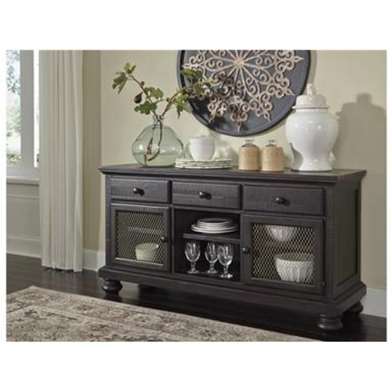 D635 60 Ashley Furniture Sharlowe Charcoal Dining Room Buffet