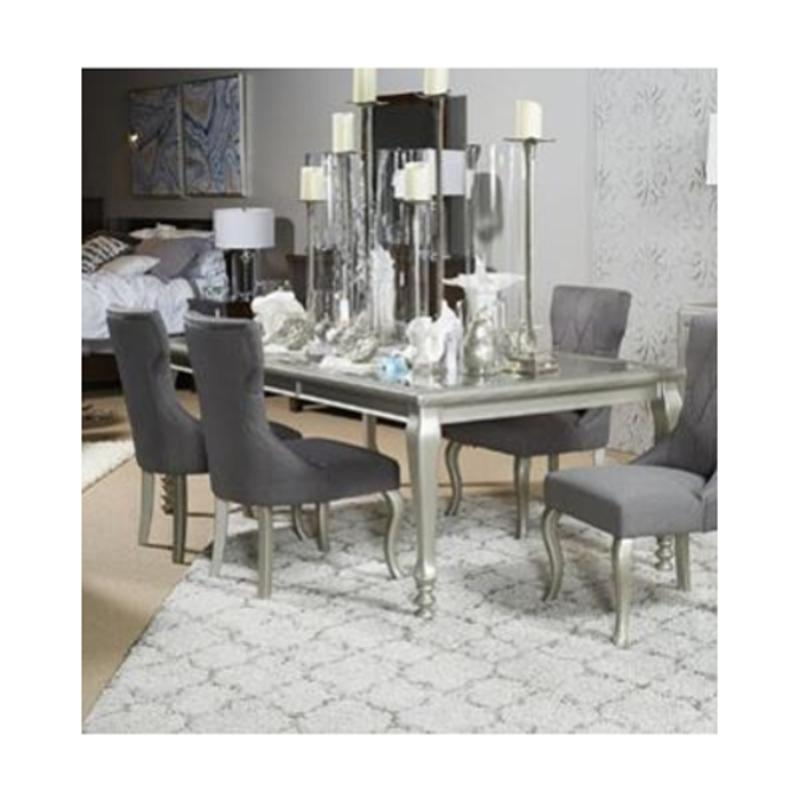 D650 35 Ashley Furniture Coralayne Silver Finish Rectangular Dining Room Extension Table