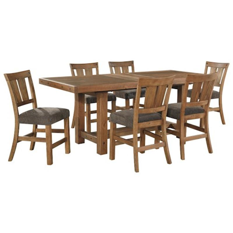 Ashley Furniture Tamilo Gray Brown Dining Room Server: D714-32 Ashley Furniture Rectangular Drm Counter Ext Table