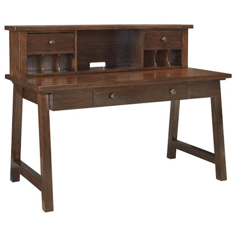 H584 48 Ashley Furniture Wner Dark Brown Home Office Desk