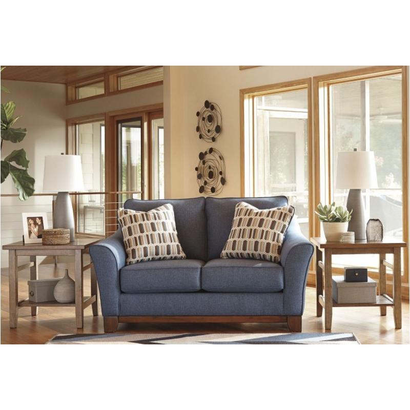 4380735 Ashley Furniture Janley Denim Living Room Loveseat