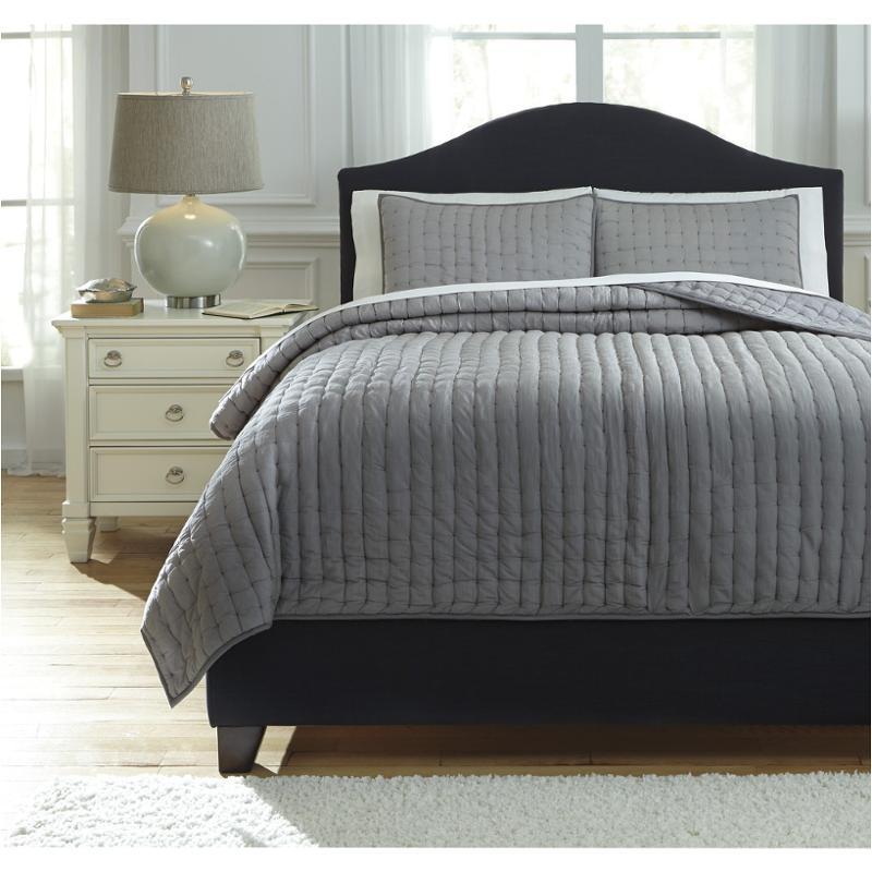 Q748003q Ashley Furniture Teague Gray Bedding Comforter