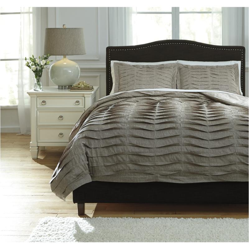 Ashley Furniture Cyrun Gray Queen Duvet Cover Set: Q752003q Ashley Furniture Voltos