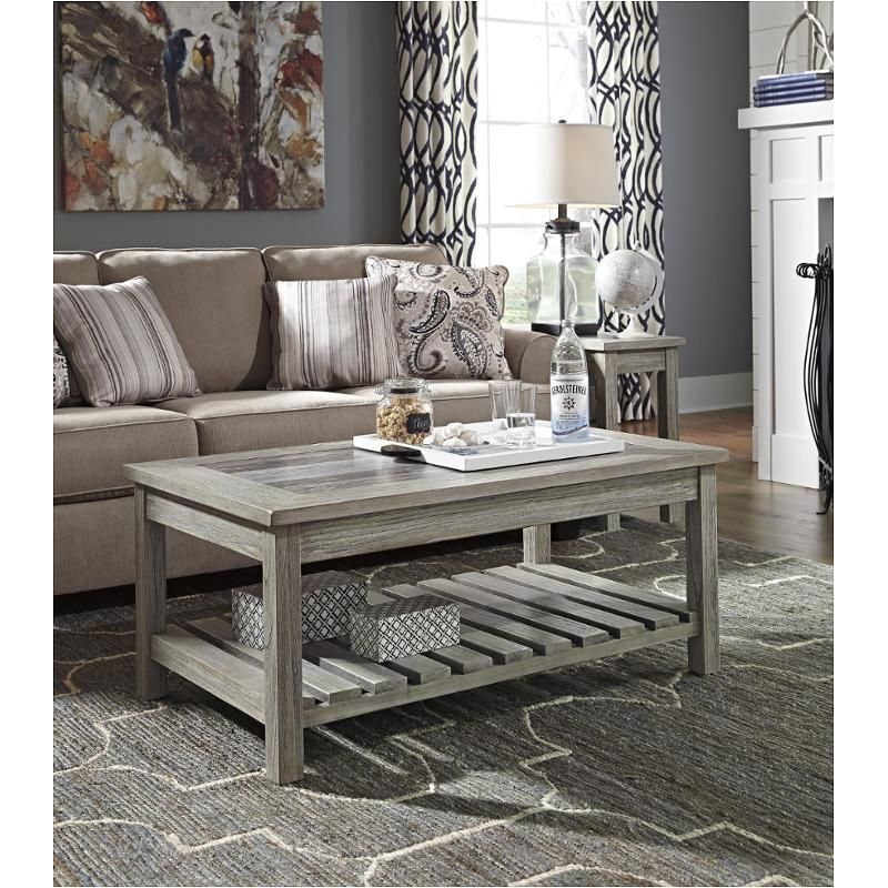 T748 1 Ashley Furniture Rectangular Cocktail Table