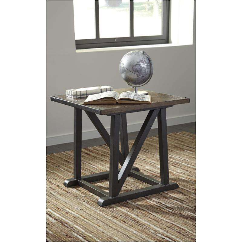 T870 2 Ashley Furniture Zenfield   Medium Brown Living Room End Table