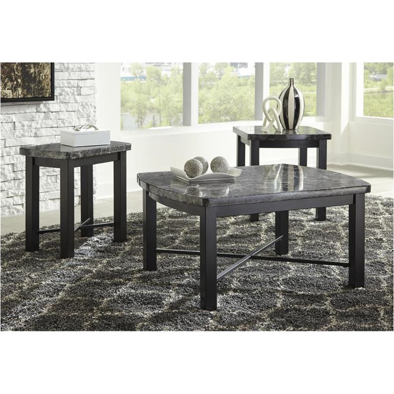 T114 13 Ashley Furniture Otterton   Black/gray Living Room Occasional Table  Set