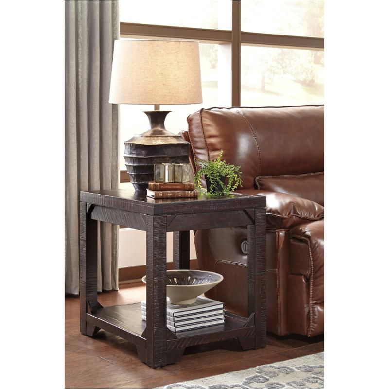 T745 3 Ashley Furniture Rogness Rustic Brown Living Room End Table