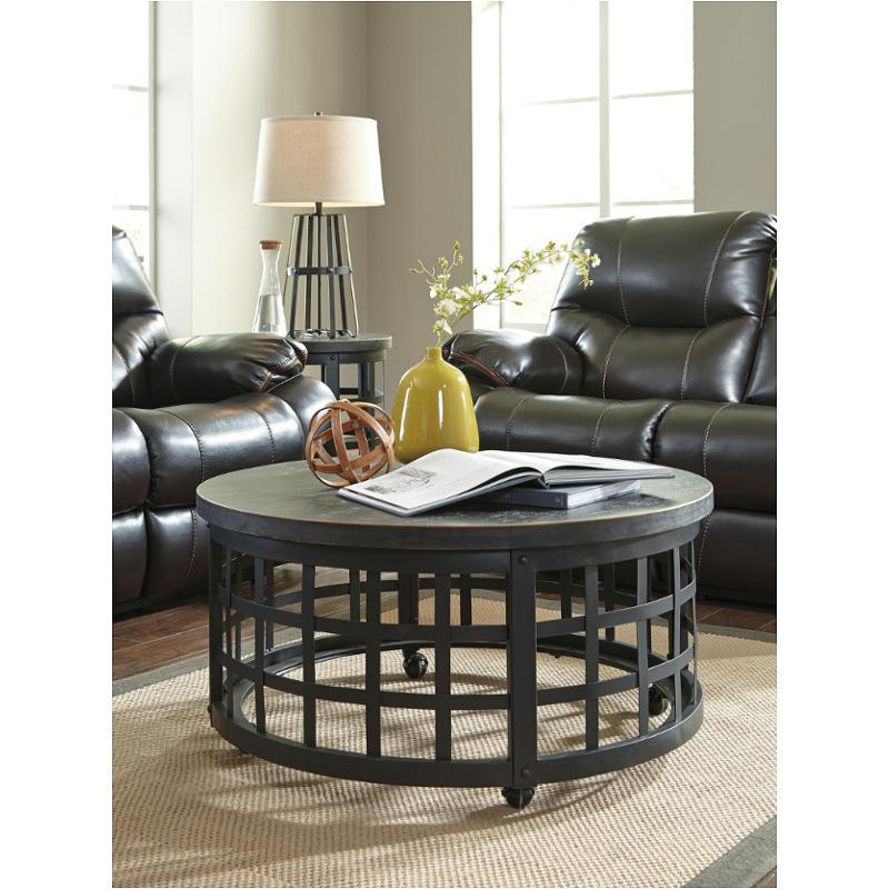 Black Coffee Table Curved: T746-8 Ashley Furniture Marimon