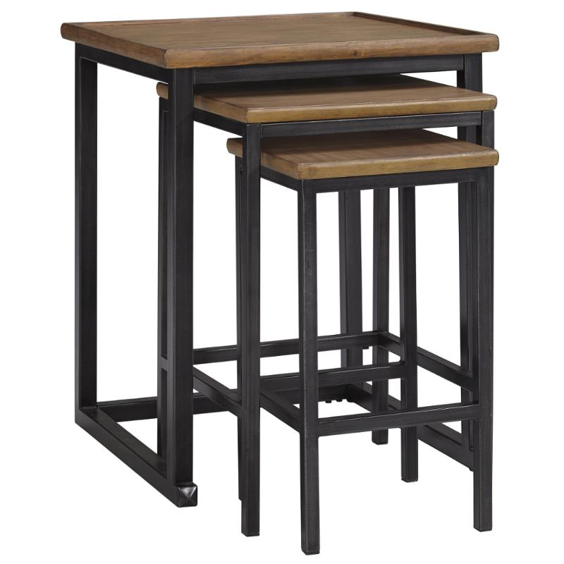 T766 16 Ashley Furniture Traxmore Warm Brown Nesting End Tables