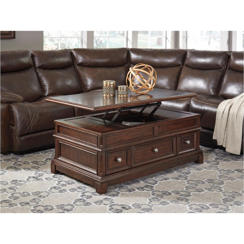 t8099 ashley furniture lavidor chocolate lift top cocktail table