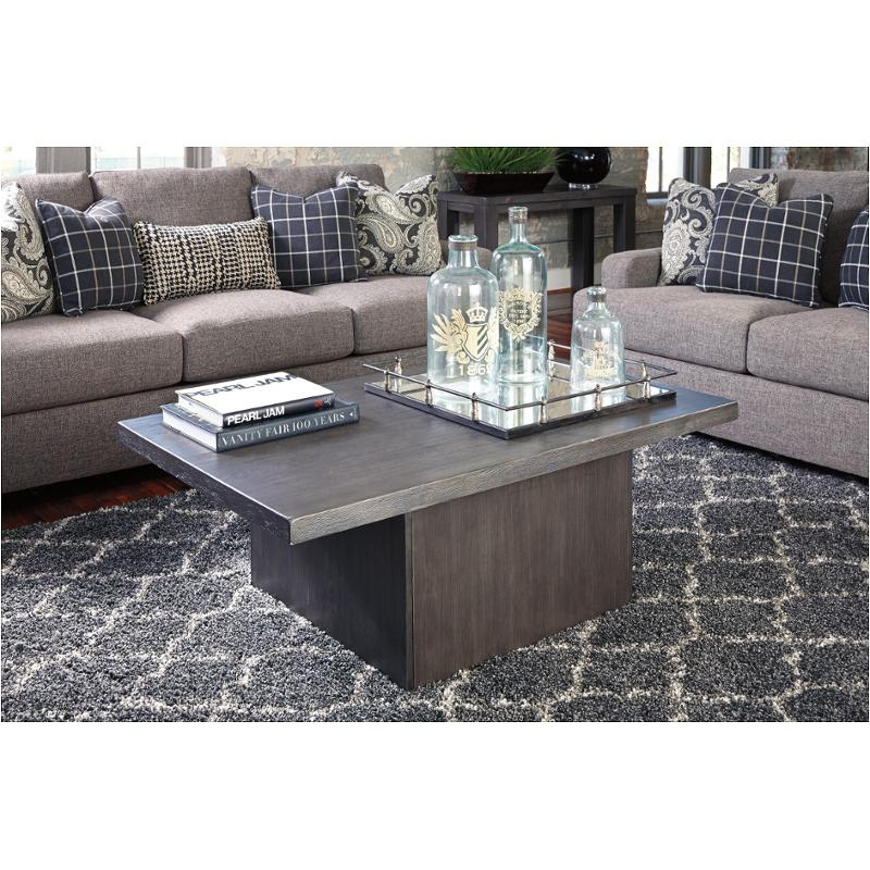 1458a377245959 T850-1 Ashley Furniture Lamoille - Dark Gray Living Room Cocktail Table