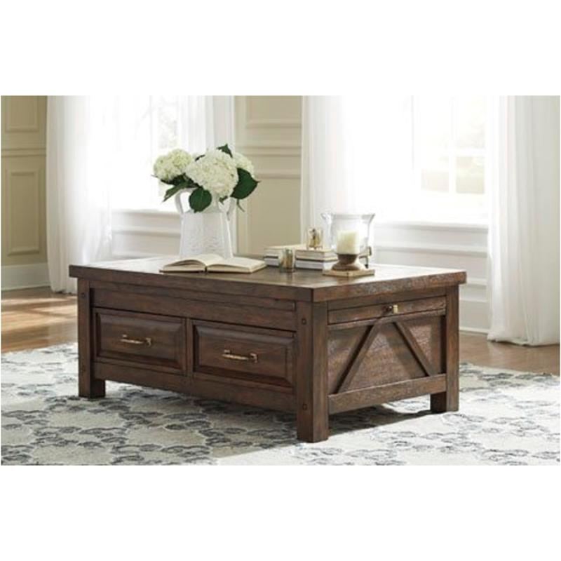 T862 20 Ashley Furniture Cocktail Table With Storage