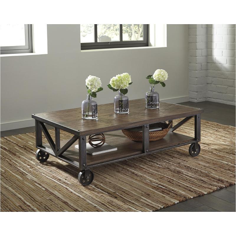 t8700 ashley furniture rectangular cocktail table