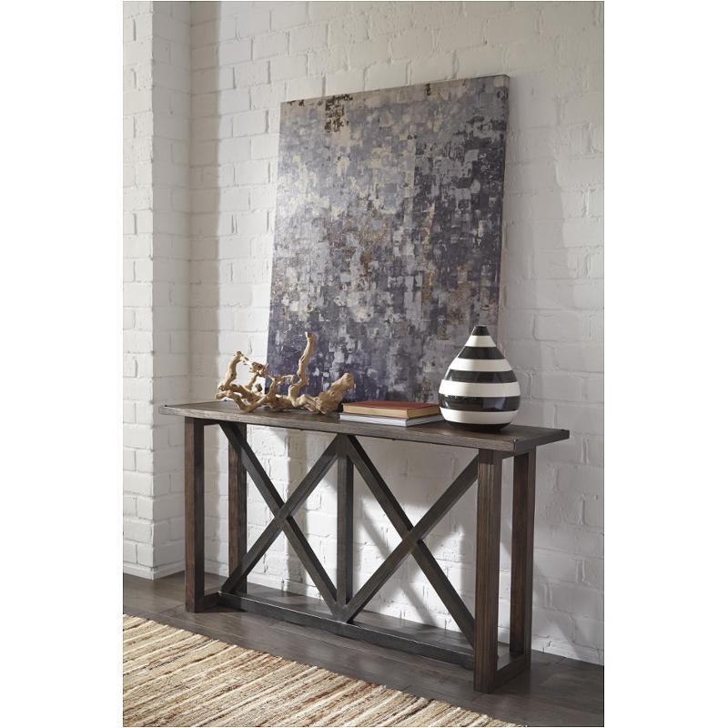 T870 4 Ashley Furniture Zenfield Medium Brown Living Room Sofa Table