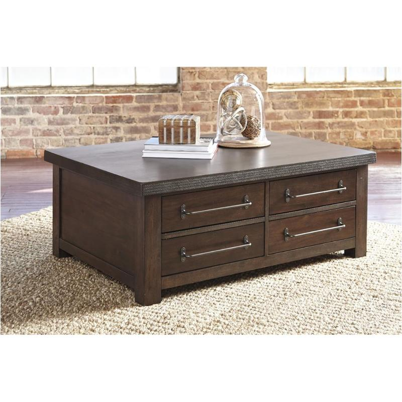 T913 20 Ashley Furniture Starmore   Brown Cocktail Table With Storage