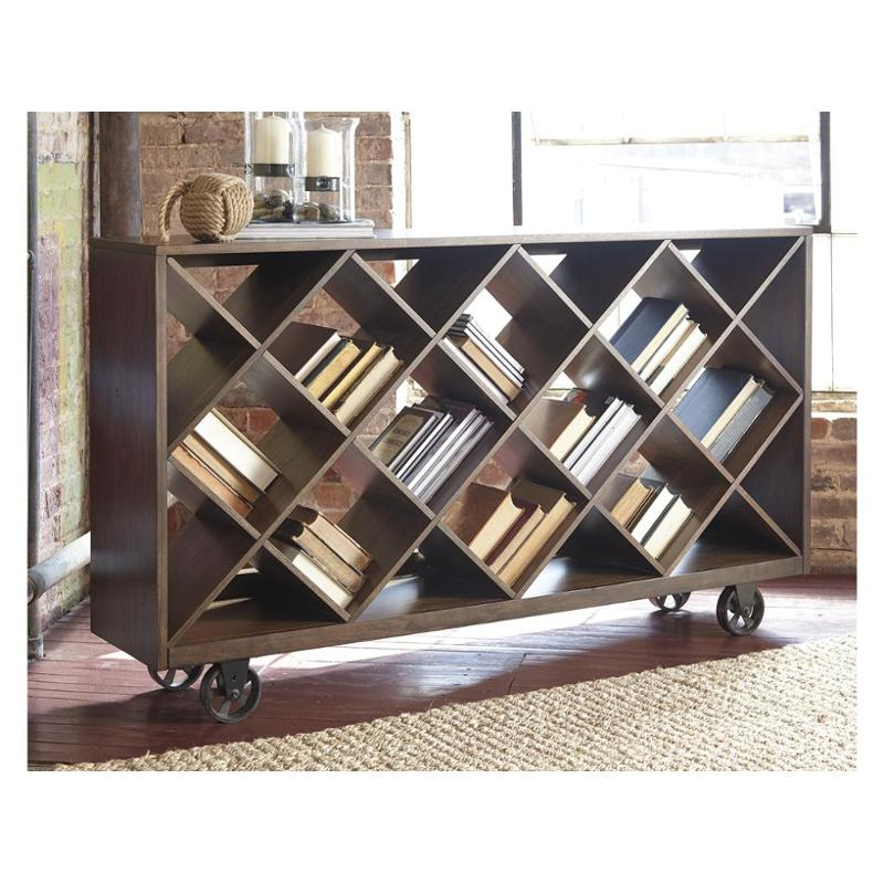 T913 5 ashley furniture starmore brown shelf console table for Starmore ashley furniture bedroom