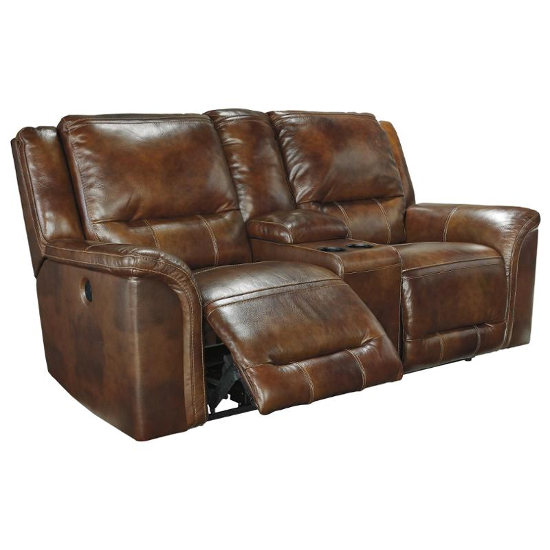 U7660096 Ashley Furniture Double Recline Power Loveseat W Console