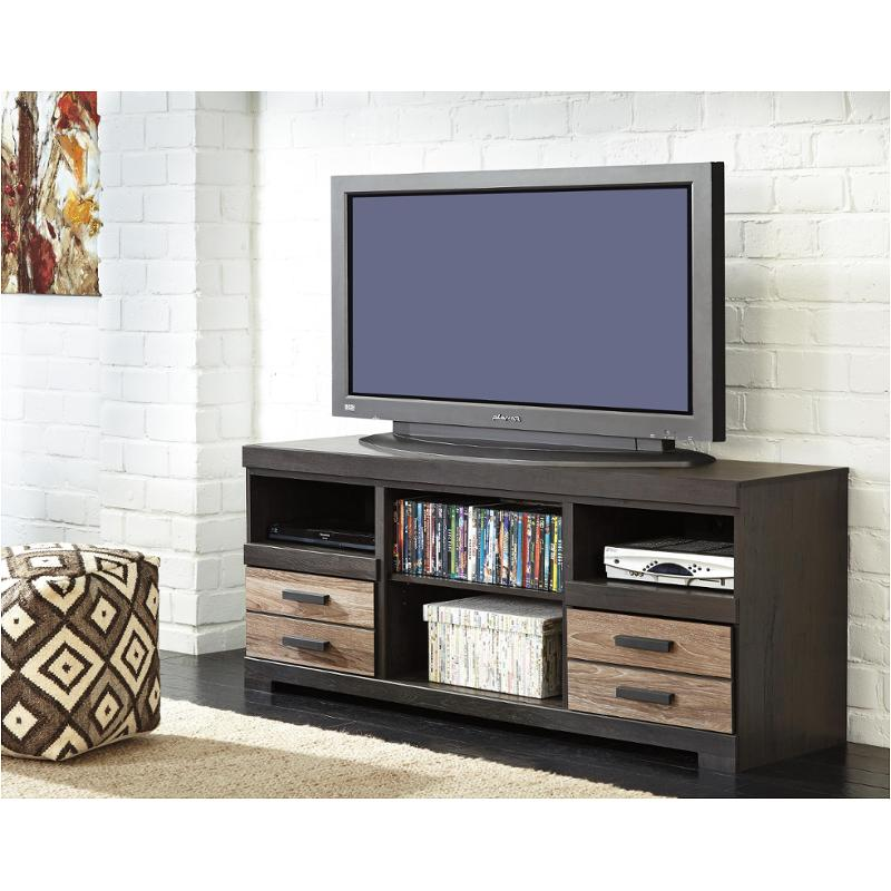 W325 68 Ashley Furniture Harlinton Two Tone Home Entertainment Tv Console
