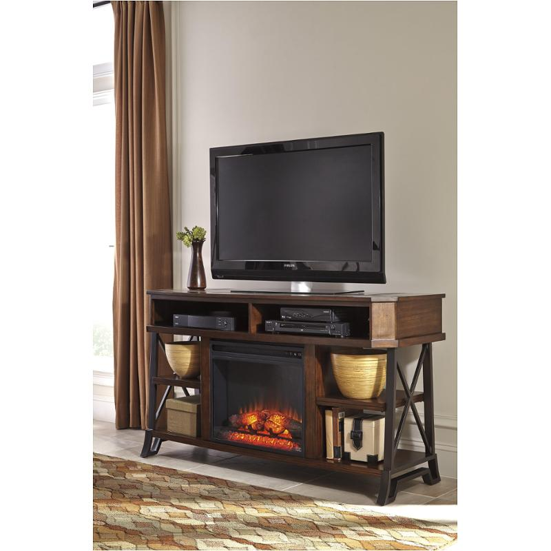 W552-68 Ashley Furniture Large Tv Stand With Fireplace Option