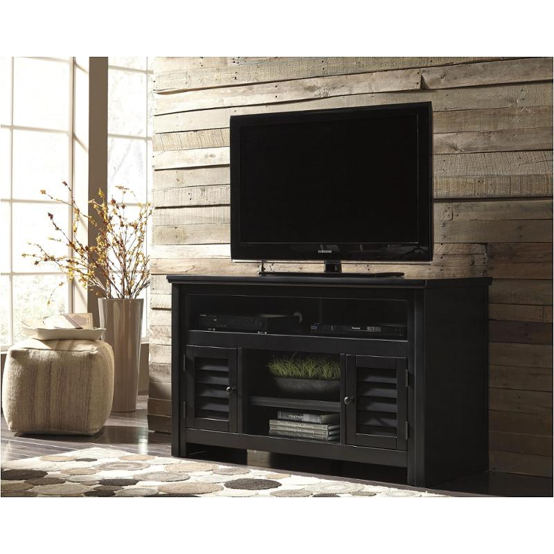 w66128 ashley furniture brasenhaus black home tv console