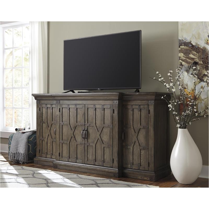 Awesome W846 48 Ashley Furniture Burladen   Grayish Brown Extra Large Tv Stand
