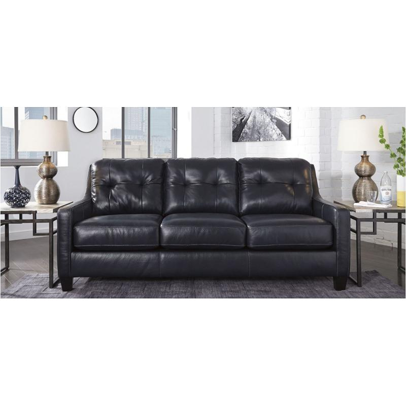 5910438 Ashley Furniture O Kean Leather Sofa Dark Navy
