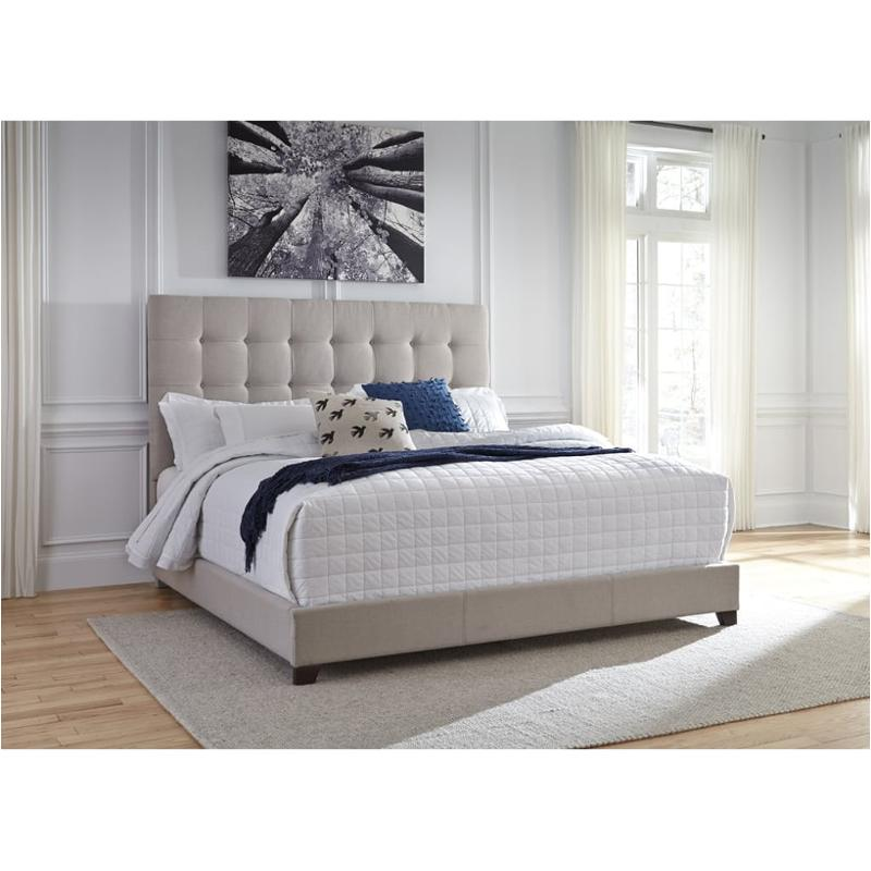 B130-582 Ashley Furniture Eastern King Upholstered Bed - Beige