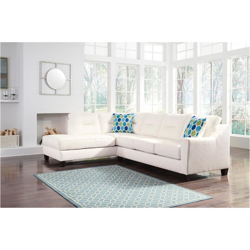 Outstanding 9960416 Ashley Furniture Kirwin Nuvella White Laf Corner Chaise Gmtry Best Dining Table And Chair Ideas Images Gmtryco