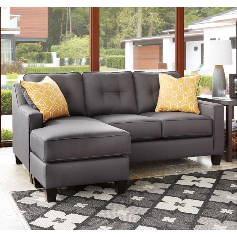 Ashley Furniture Al Nuvella Sofa Chaise Gray