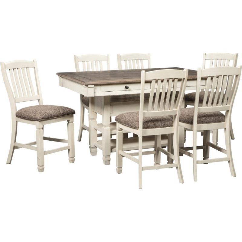 D647 32 Ashley Furniture Bolanburg Dining Room Counter Height Table