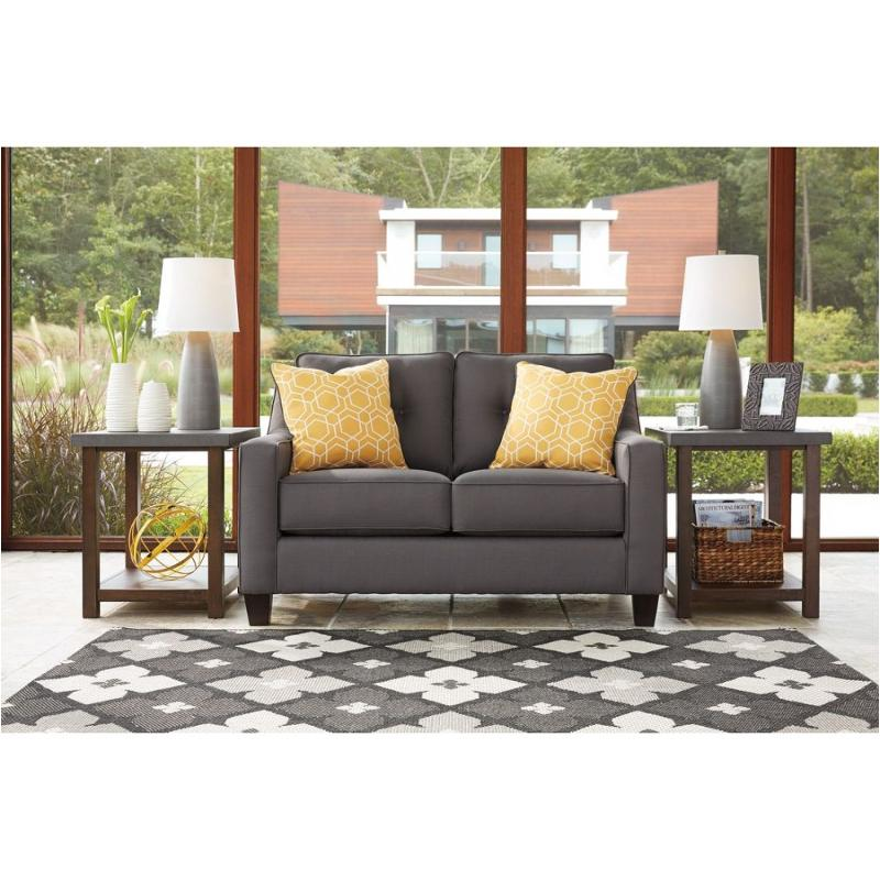 Outstanding 6870235 Ashley Furniture Aldie Nuvella Loveseat Gray Ibusinesslaw Wood Chair Design Ideas Ibusinesslaworg