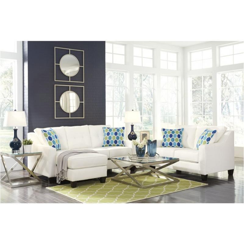 6870418 Ashley Furniture Aldie Nuvella Sofa Chaise White