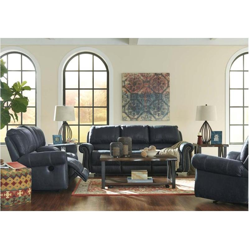 Groovy 6330488 Ashley Furniture Milhaven Navy Reclining Sofa Ibusinesslaw Wood Chair Design Ideas Ibusinesslaworg