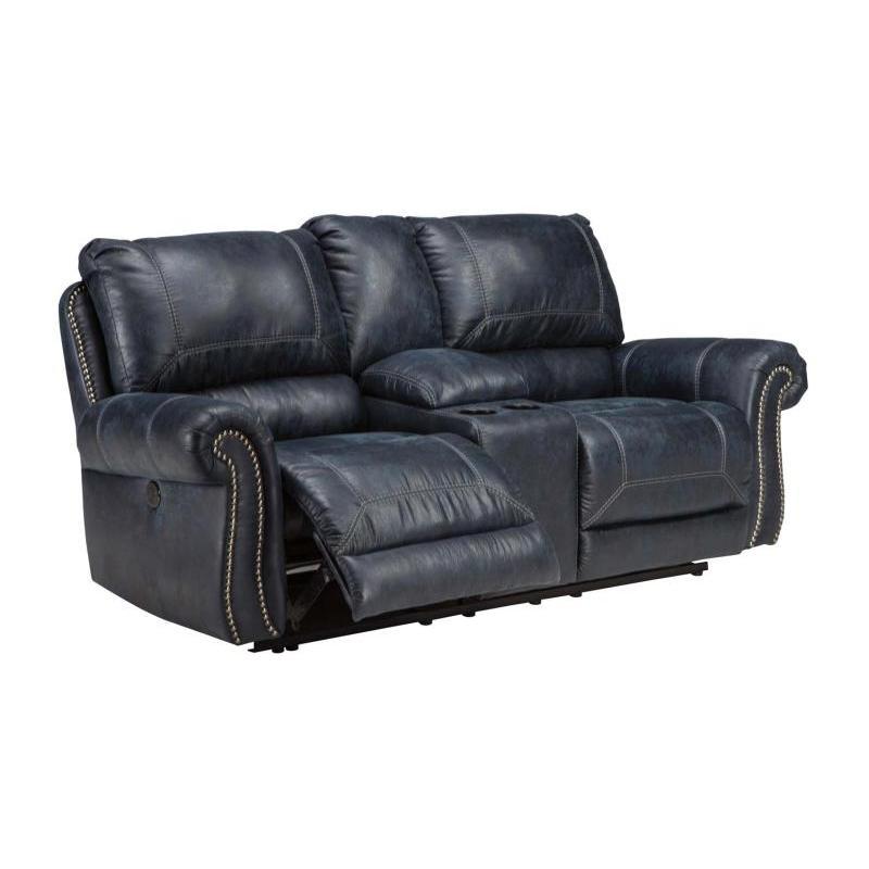 6330496 Ashley Furniture Milhaven Navy Recliner