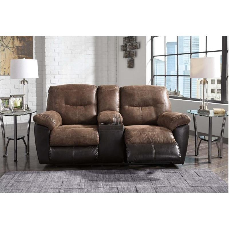 dp bonded center kitchen double with com loveseat leather console glider brown reclining homelegance amazon dining