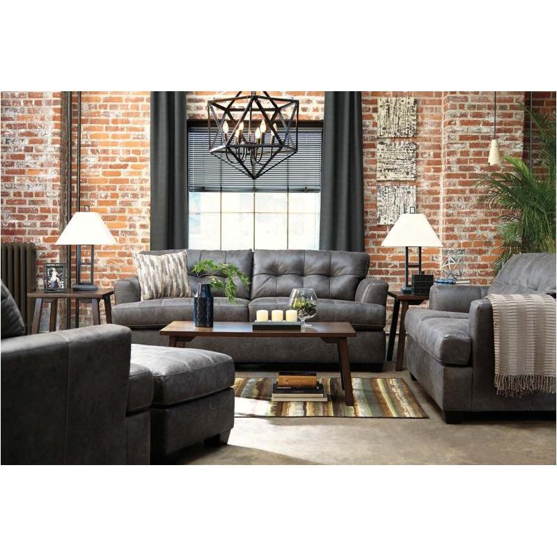 6580738 ashley furniture inmon charcoal living room sofa for Charcoal and red living room