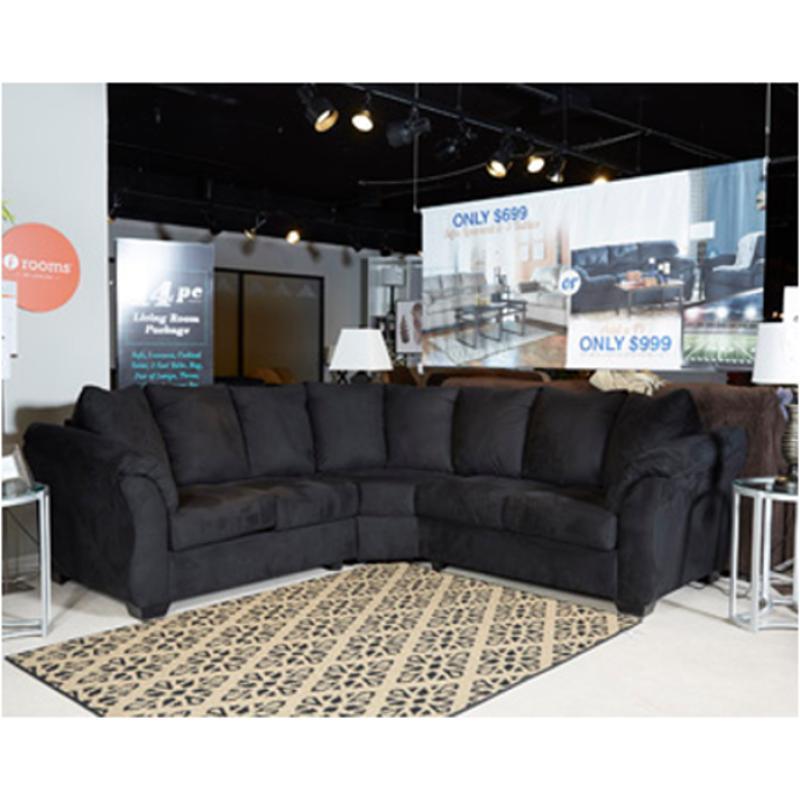 7500855 Ashley Furniture Darcy Black Living Room Loveseat
