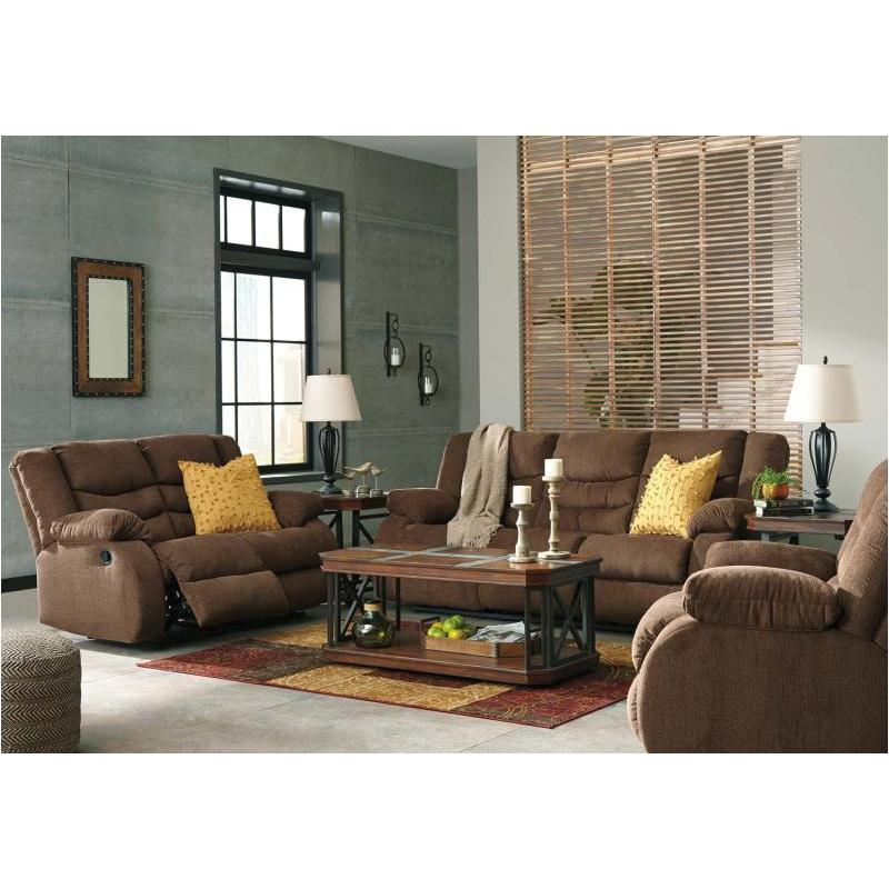 9860588 Ashley Furniture Tulen - Chocolate Reclining Sofa