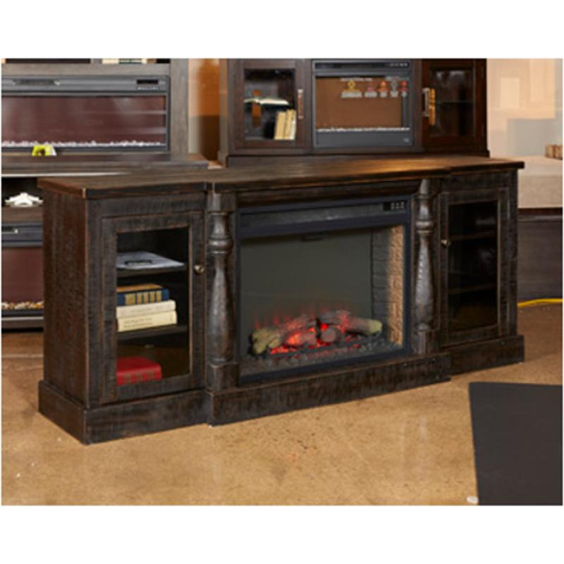 W880 68 Ashley Furniture Mallacar Xl Tv Stand W Fireplace Option