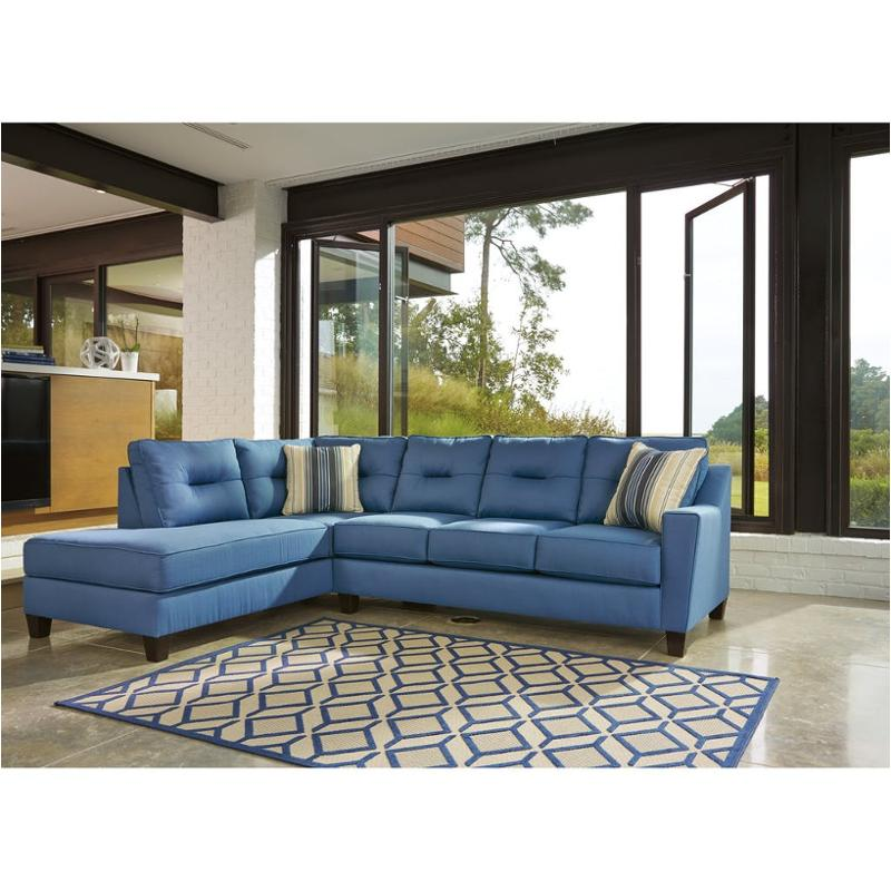 9960367 Ashley Furniture Kirwin Nuvella Blue Living Room Sofa