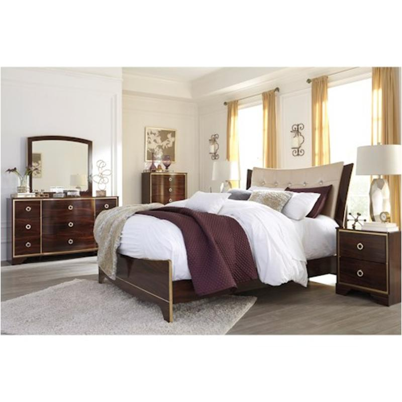 B247-57 Ashley Furniture Lenmara Queen/full Upholstered Panel Bed