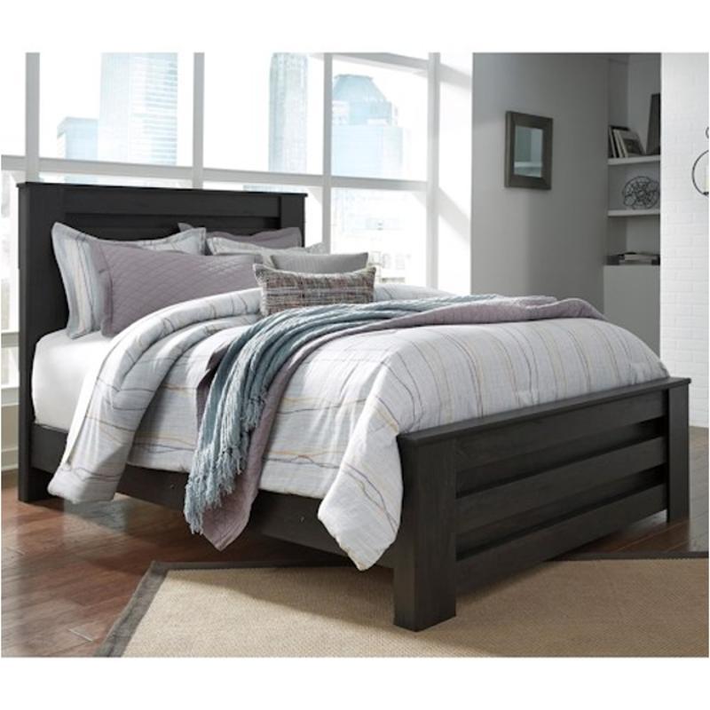 B249 66 ashley furniture brinxton black king panel footboard - Ashley furniture black bedroom set ...