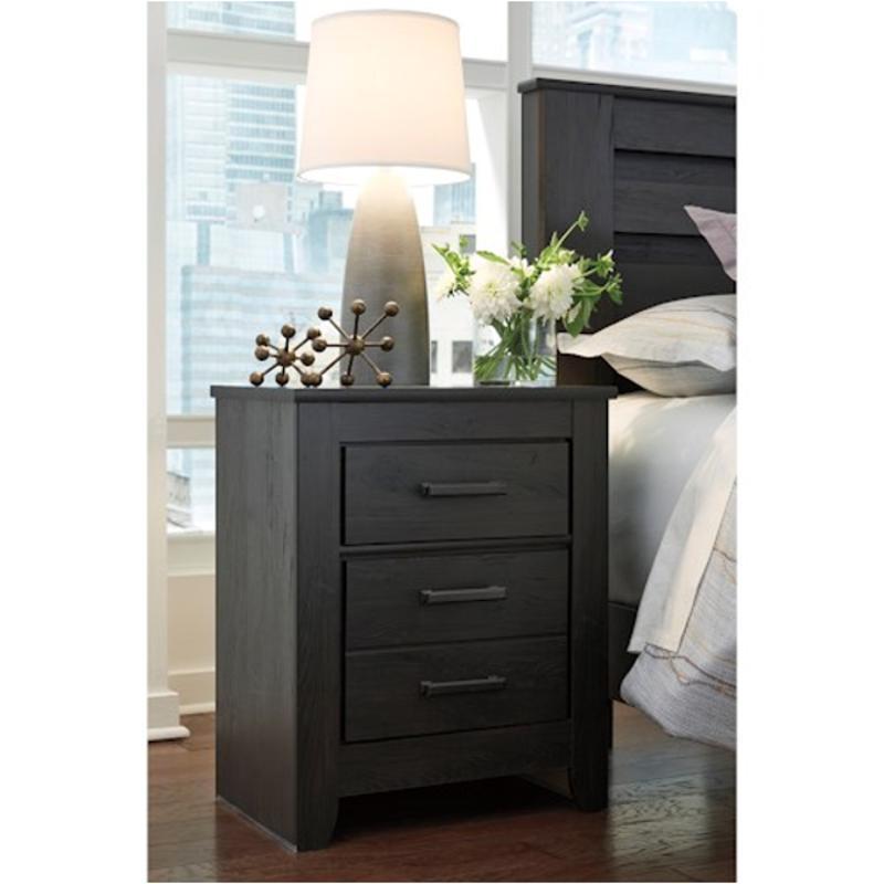 B249 92 Ashley Furniture Brinxton Black Bedroom Nightstand