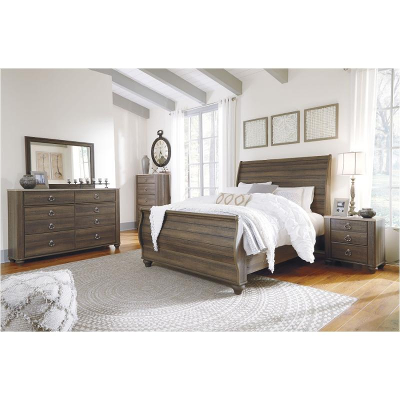 King Sleigh Bedroom Furniture, Mill Valley Ii Cherry Queen Sleigh Bedroom With Storage
