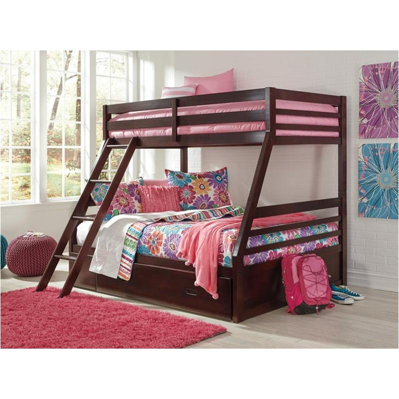 B328 58p Ashley Furniture Halanton Kids Room Twin Full Bunk Bed
