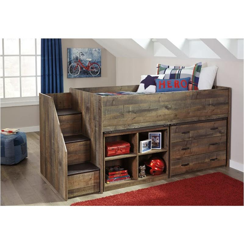 Twin Loft Bed.B446 68t Ashley Furniture Trinell Brown Twin Loft Bed