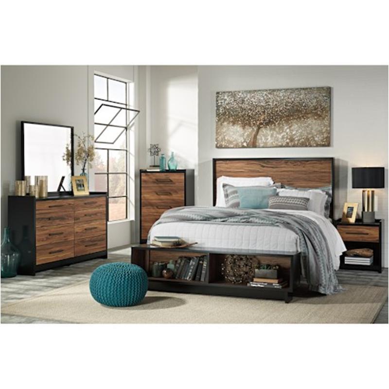 B457 57 St Ashley Furniture Stavani Queen Full Panel Bed St